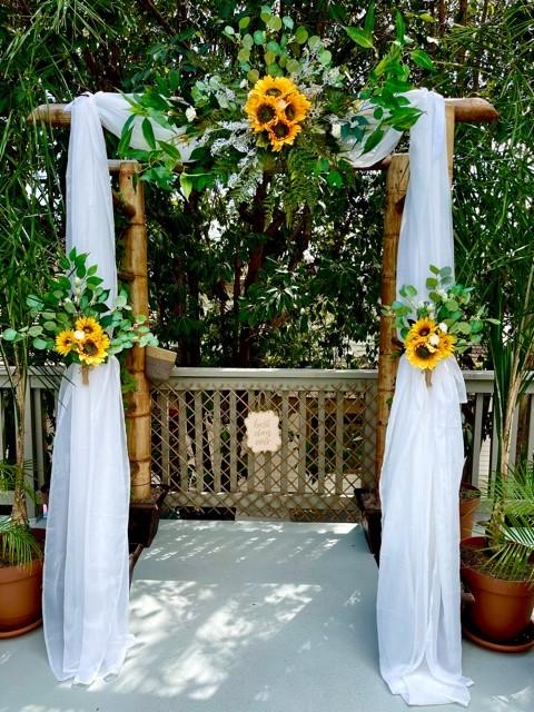 sunflower arch design